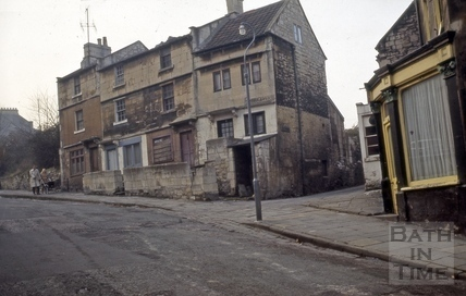 Corner of Holloway and Old Orchard, Bath 1966