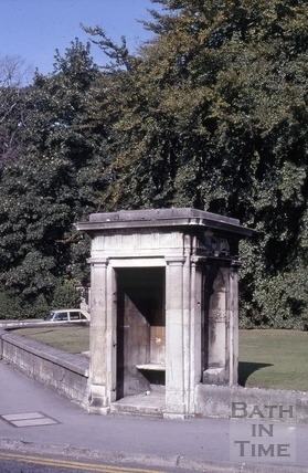 Watchman's shelter, Holburne Museum, Sydney Place, Bath 1978
