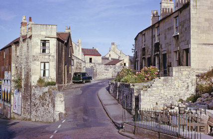 Magdalen Place, Calton Road from Holloway, Bath 1963