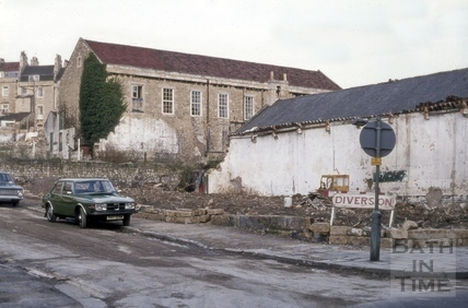 Old tennis court, Morford Street, Bath 1974