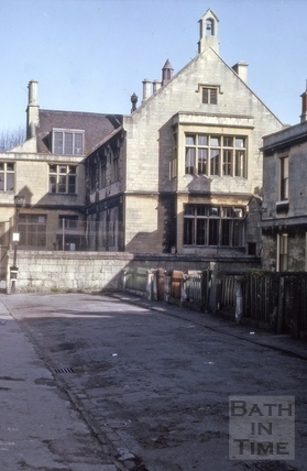 7, Lower Trafalgar Place and St. Mark's School, Bath 1964