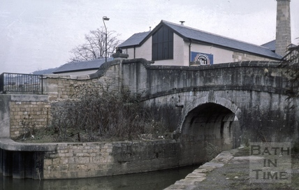 The Kennet and Avon Canal entrance from the River Avon, Widcombe, Bath 1987