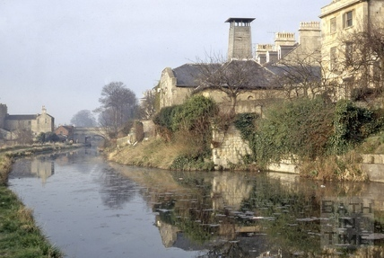 Sydney Maltings and the Kennet and Avon Canal, Bath 1972