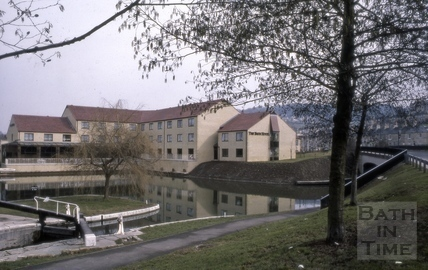 The Kennet and Avon Canal and Bath Hotel, Widcombe, Bath 1987