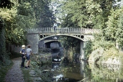 The Kennet and Avon Canal footbridges, Sydney Gardens, Bath 1974