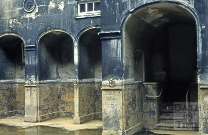 King's Bath drained, Bath c.1965