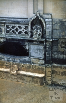 Master's seat, King's Bath, Bath c.1965