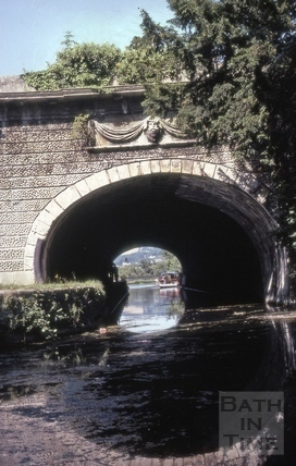 Ornamental bridge under Beckford Road, The Kennet and Avon Canal, Bath 1981