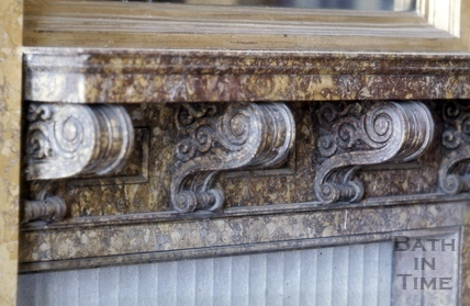 Mantelpiece detail, 19, Lansdown Crescent, Bath 1967