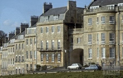 Lansdown Place West and Lansdown Crescent, Bath 1979