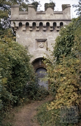The Embattled Gateway near Springfield Place, Lansdown, Bath 1972