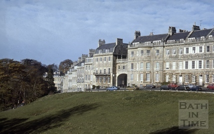 Lansdown Place West and Lansdown Crescent, Bath 1979