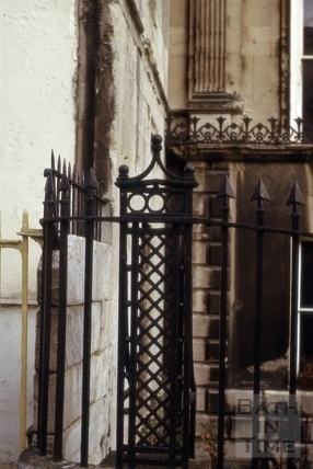 Detail of Railings, 4, Belvedere Villas, Lansdown Road, Bath 1965