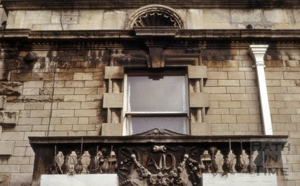 Detail above balcony, 36, Belvedere, Lansdown Road, Bath 1964