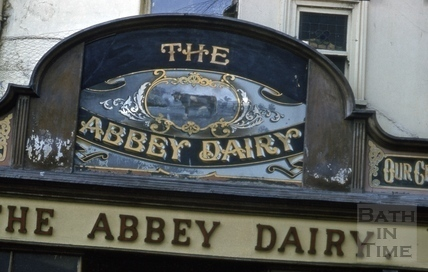 The Abbey Dairy, 13, Lower Borough Walls, Bath 1963