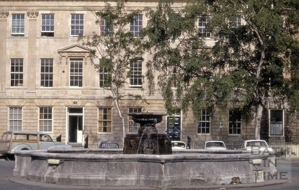 Laura Place fountain, Bath 1975