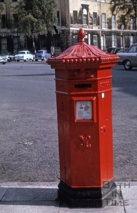 Victorian pillar box, Laura Place, Bath 1975