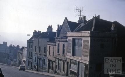 Belle Vue Place and Belle Vue Buildings, Lansdown Road, Bath 1969