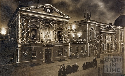 The Pump Room Illuminated, Bath 1911