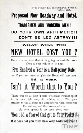Poster regarding the proposed new Grand Parade and Empire Hotel, Bath Series 1 1898
