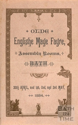 Programme for the Olde English Maye Fayre, Assembly Rooms, Bath 1884