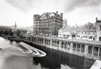 The Empire Hotel and New Market Row, Bath 1992