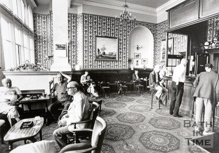 The Empire Bars at the Empire Hotel, Grand Parade, Bath 1989