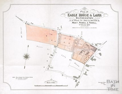 Plan of Eagle House and Land, Batheaston 1904