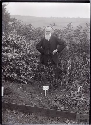 Self portrait of Col. Linley Blathwayt 1911