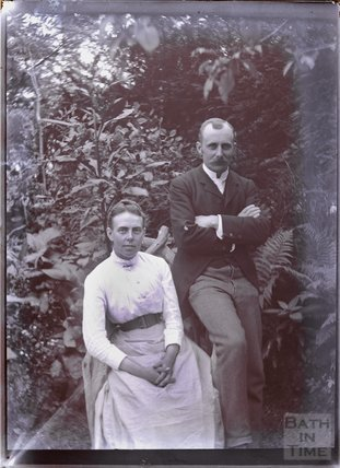 Portrait of Mr. Samson and woman, Batheaston c.1902