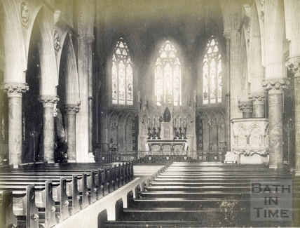 Interior of St. John's Roman Catholic Church, Bath 1889