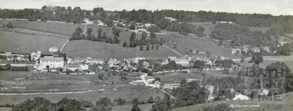 Panorama of Monkton Combe from across the valley c.1928