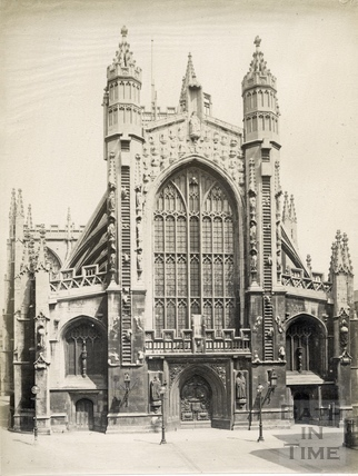 West front, Bath Abbey, Bath 1889