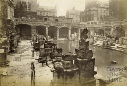 The recently discovered Roman Baths, Bath 1890