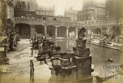 The recently discovered Roman Baths, Bath 1890