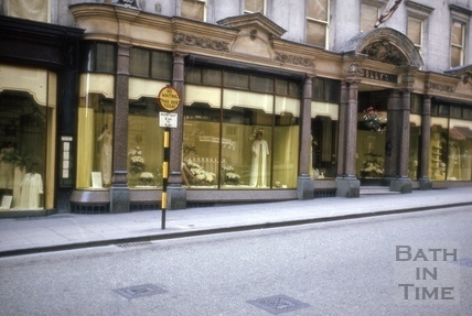 Jolly's shop front, 9 to 14, Milsom Street, Bath 1964