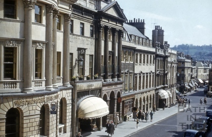 East side of Milsom Street, Bath 1981