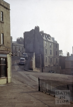 Lansdown Road from Mount Pleasant, Lansdown, Bath 1965
