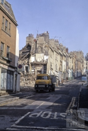 Demolition of the west side of Morford Street, Bath 1972