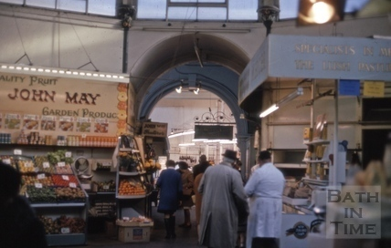 Interior of Guildhall Market, Bath 1969