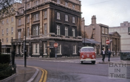 Manvers Street and Henry Street, Bath 1975