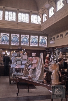Interior of Jolly's Department Store, Milsom Street, Bath 1965