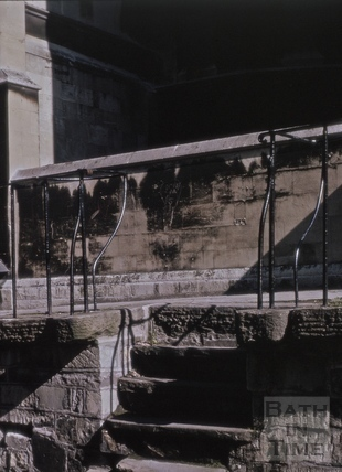 Steps from the high pavement, Montpelier, Julian Road, Bath 1965