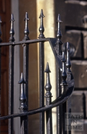Railings detail, Marlborough Buildings, Bath 1965