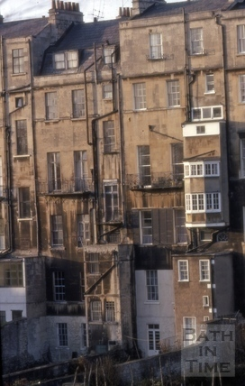 Rear of Marlborough Buildings, Bath 1970