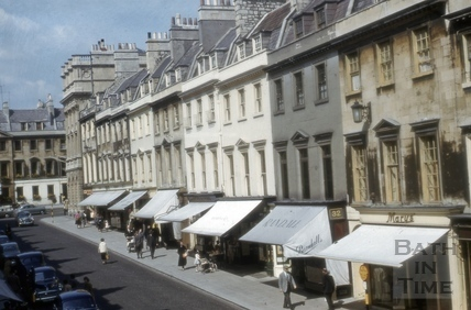 East side of Milsom Street, Bath 1956
