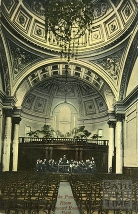 The Pump Room Concert Room, Bath c.1908