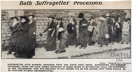 Bath Suffragettes' Procession c.1913