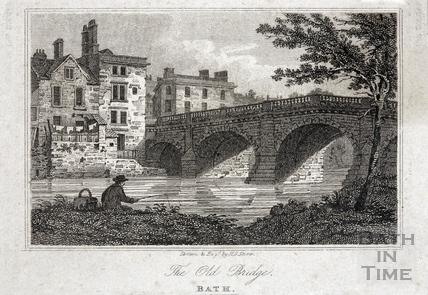 The Old Bridge, Bath 1818