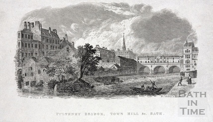 Pulteney Bridge, Town Mill &c, Bath c.1837
